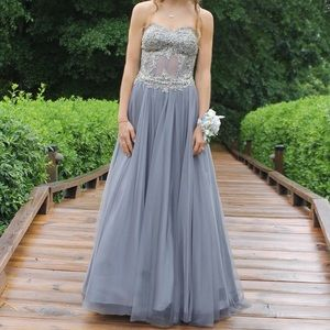 Blondie Nites Strapless Prom Dress